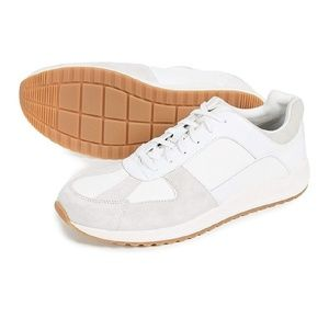 Griffin White Leather Grey Suede Sz 12
